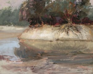 Darling River  Oil on Canvas, 60x75cm, 2021