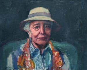 abeth in a Hat (Elisabeth Cummings ), Oil on Canvas, 55x70cm, 2018
