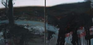 Our Burnt Dam, Acrylic on Canvas,  40x90cm, 2017