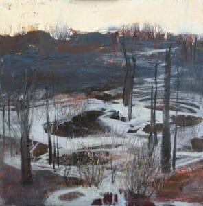 Animal Tracks (The Half Life of a Burnt Land),  Oil on Canvas, 70x70cm, 2018