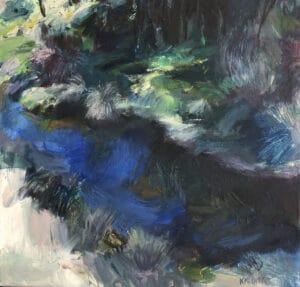Shady Spot, Oil on Canvas, 40x40cm, 2018