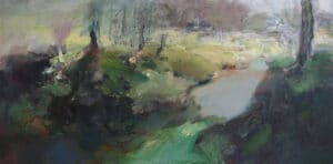 The Long Shadows of Whiskers Creek,  Acrylic on Canvas, 80x160cm, 2012