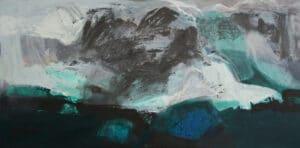 A Polar Memory Jan2018  acrylic on canvas 75x150cm