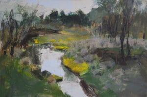 Whiskers Creek, Looking North,  Oil on Canvas, 50x75, 201