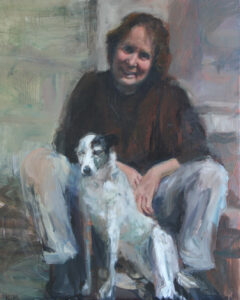 Me and Lucy, Oil on Canvas, 60x90cm, 2008