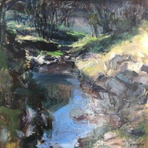 Near the Bridge  Oil on Canvas,  80x80cm, 2019
