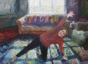Iso Yoga Selfie, Oil on Canvas,  122x167cm, 2020