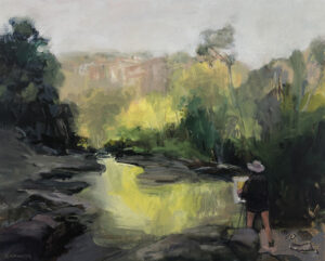 River Painter  Oil on Canvas, 60x75cm, 2021
