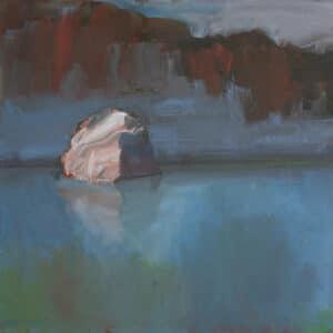 River Rock 2, Kimberley, Oil on Canvas,  40x40cm, 2017