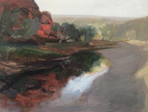 River Shadow,  Oil on Canvas, 90x120cm, 2021