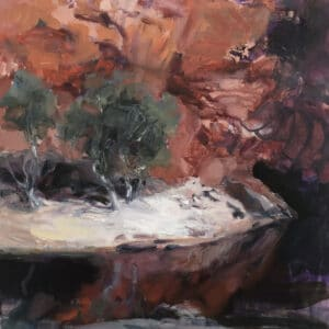 Rocky Cave, Oil on Canvas, 40x40cm, 2021