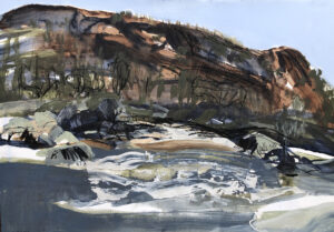 Snowy River  Mixed Media on Paper , 65 x 80cm, 2021