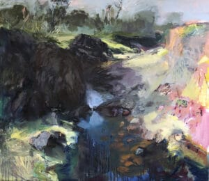 The Creek Narrows  Oil on Canvas, 152x168cm, 2019