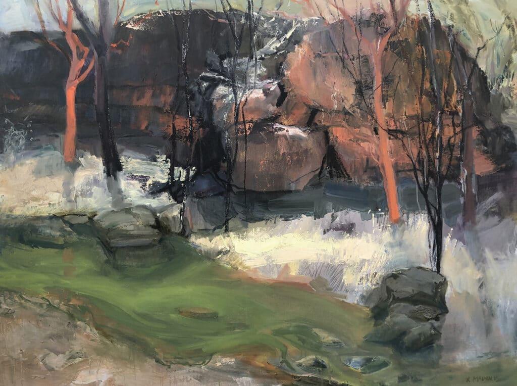 Umbrawarra, Oil on Canvas, 90x120cm, 2021