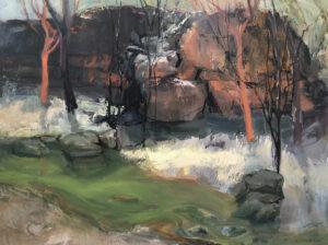 Umbrawarra  Oil on Canvas,  90x120cm, 2021