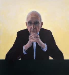 Listening to the Nation (Hugh Mackay), Oil on Canvas, 112 x 102cm, 2020